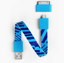 Mohzy Loop Android & Apple USB Cable - Ocean Bar