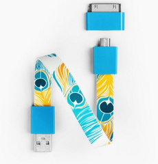 Mohzy Loop Android & Apple USB Cable  - Peacock