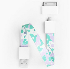 Mohzy Loop Android & Apple USB Cable - Hydrangea