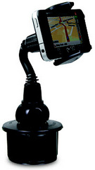 Macally Adjustable Automobile Cup Holder Mount for Smartphones and most GPS