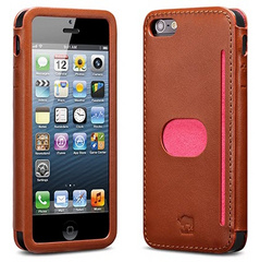 id America Wallet Case for iPhone 5/5s/SE - Brown