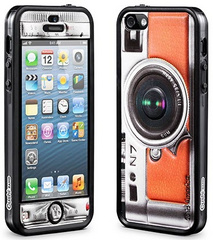 id America Cushi Camera Complete Protection Kit for iPhone 5/5s/SE  - Orange