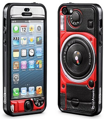 id America Cushi Camera Complete Protection Kit for iPhone 5/5s/SE - Red