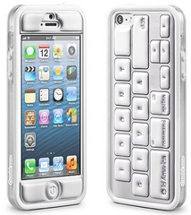 id America Cushi Original Complete Protection Kit for iPhone 5/5s/SE - Keyboard White