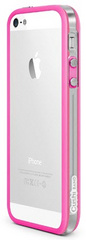 id America Cushi Band Frame Case for iPhone 5/5s/SE - Clear Pink
