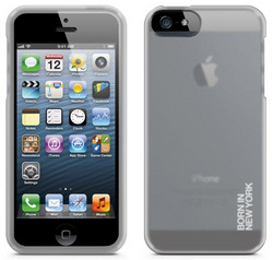id America Dry Ice Soft Grip Case for iPhone 5/5s/SE - Transparent