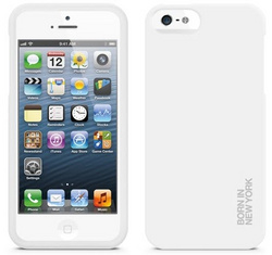 id America Hue Soft Grip Case for iPhone 5/5s/SE - White