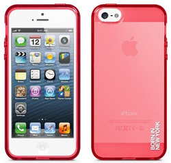 id America Liquid  Rigid Flex Case for iPhone 5/5s/SE - Gloss Red