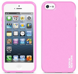 id America Liquid Rigid Flex Case for iPhone 5/5s/SE - Solid Pink