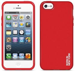 id America Liquid Rigid Flex Case for iPhone 5/5s/SE - Solid Red