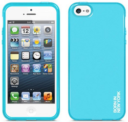 id America Liquid Rigid Flex Case for iPhone 5/5s/SE - Solid Sky