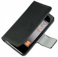 Moxie Folio Leather Case - Black