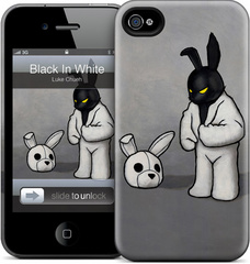 GelaSkins Black in White - iPhone 4/4S Hardcase