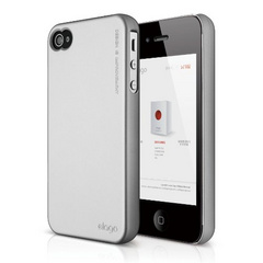 Elago S4 Slim Fit 2 Case for iPhone 4/4s - Soft Feeling Metalic Silver