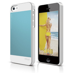 Elago S5C Outfit Case for iPhone 5C - White / Cotton Candy Blue