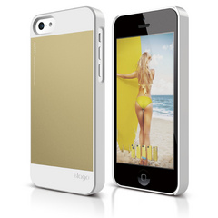 Elago S5C Outfit Case  for iPhone 5C - White / Gold