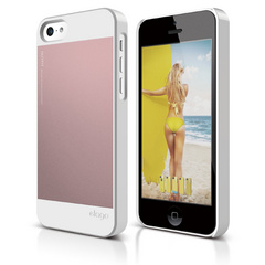 Elago S5C Outfit Case for iPhone 5C - White / Lovely Pink