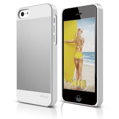 Elago S5C Outfit Case for iPhone 5C - White / Silver