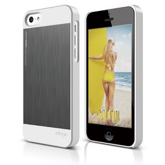 Elago S5C Outfit Morph MX for iPhone 5C - White / Dark Gray