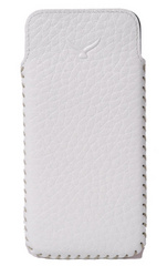 Simena Soft Leather Slim Pouch Case - White