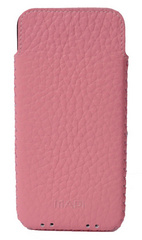 Simena Soft Leather Slim Pouch Case - Pink