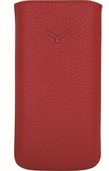 Parion Leather Pouch - Red