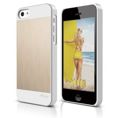 Elago S5C Outfit Morph MX for iPhone 5C - White / Gold