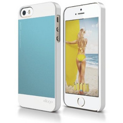 S5 Outfit Aluminum Case - White / Coral Blue