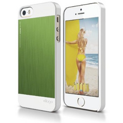 Elago S5 Outfit MATRIX Aluminum Case for iPhone 5/5s/SE - White / Green