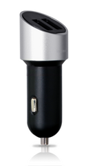 Capsule Dual USB Car Charger - Silver