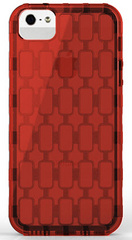 Pinlo Chain Case for iPhone 5/5s/SE - Transparent Red