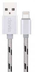 Fashion Lightning Cable 1m - Silver