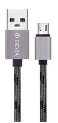 Devia Fashion Cable 1m for Android - Space Gray