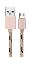 Devia Fashion Cable 1m for Android - Gold