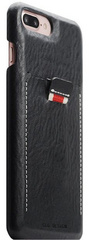 SLG D6 Italian Minerva Box Leather Back Case for iPhone 8 Plus / 7 Plus - Black