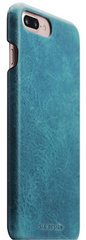 D7 Italian Wax Leather Back Case -  Blue