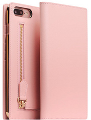 SLG D5 CSL Zipper Case for iPhone 7/8 Plus -  Baby Pink