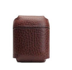 SLG D6 Italian Minerva Box Leather AirPods Pouch - Brown