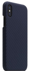 SLG D+ Italian Carbon Leather Back Case for iPhone X - Navy