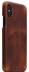 SLG D7 Italian Wax Leather Back Case for iPhone X - Brown