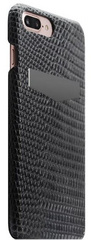 SLG D3 Italian Lizard Leather Back Case for iPhone 8 Plus / 7 Plus - Black