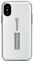 BMT SelfieLOOP case for iPhone X/Xs - Silver/Pink