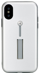 BMT SelfieLOOP case for iPhone X/Xs - Silver/Crystal