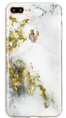BMT Treasure Alabaster/Gold Skull case for iPhone 7/8 Plus