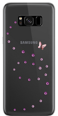 BMT Papillon Rose Sparkles case for Samsung Galaxy S8 Plus