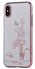 Comma Crystal Starlight Case for iPhone X - Transparent/Rose Gold