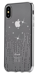 Devia Crystal Meteor Case for iPhone X - Transparent/Silver