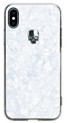 BMT Treasure White Silver Skull case for iPhone X/Xs