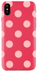 JT Legend Polka Case for iPhone X/Xs - Berry Blossom