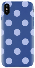 JT Legend Polka Case for iPhone X/Xs - Blue Jazz